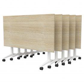 Focus-Flip-Top-Table-White-Powdercoat-Stacked-Seasoned-Oak-Worktops-Table