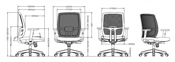 Office Chair - Luminous Mesh Chair 6