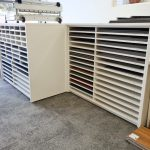 Custom office furniture and joinery for Terrigal commercial premises - flooring display shelves