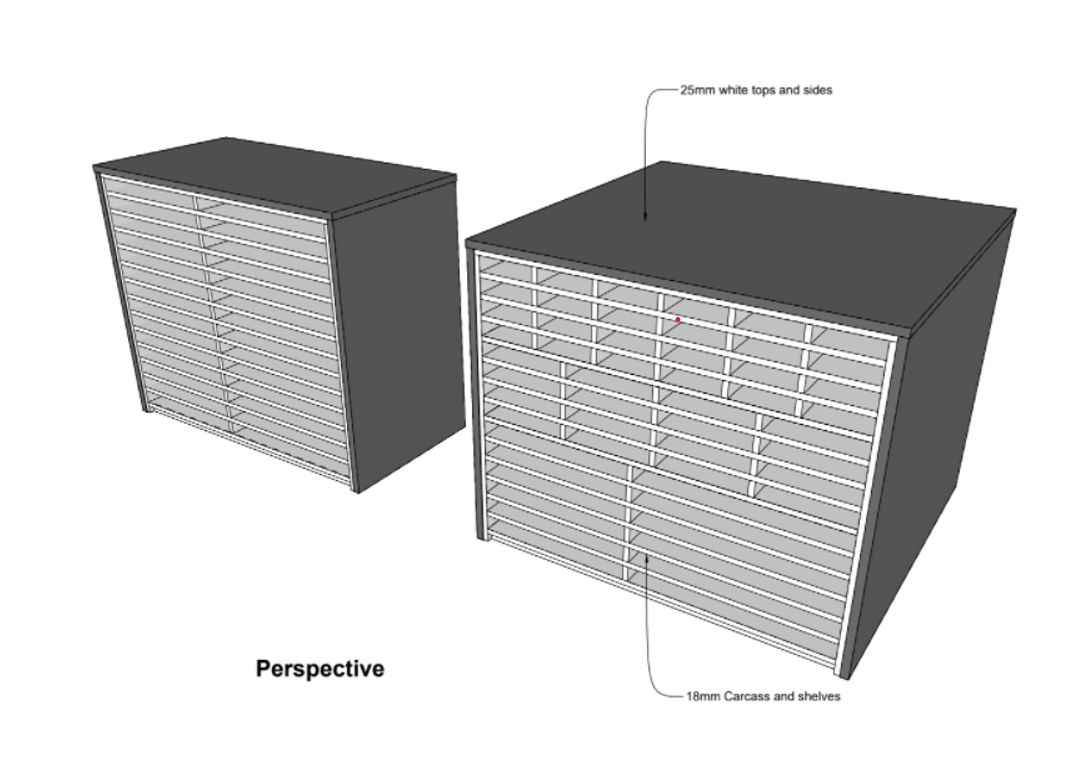 Fitout space solutions with custom office furniture storage unit Terrigal, Central Coast