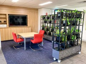 Office Partition with Planters, Warrabrook Newcastle